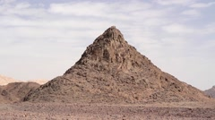 Steady shot of Eilat Mountains in Israel Stock Footage