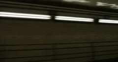 Driving Fast Pass Lights Through Underground Tunnel, 4K Stock Footage