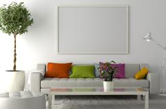 Blank Picture frame on the wall. Place your creation in this empty space. Piirros