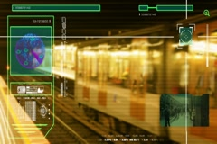 Metro Station - High Tech - Security Scan - people walking - Shopping Centre  Stock Footage