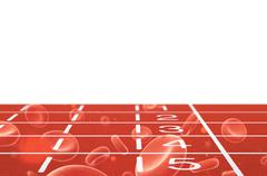 Running track with blood cells Piirros