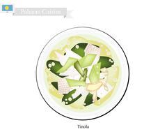 Tinola or Palauan Chicken Soup, Popular Dish in Palau Stock Illustration