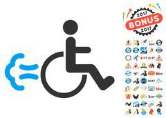 Patient Movement Icon With 2017 Year Bonus Symbols Stock Illustration