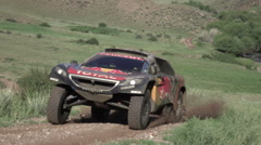 The SILK WAY RALLY 2016 - Silk Way Rally Cars Stock Footage