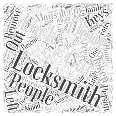Stories Related to Locksmiths word cloud concept Stock Illustration