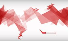Trendy banner from abstract triangles Stock Illustration