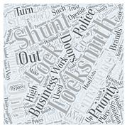 High Priority for Locksmiths word cloud concept Stock Illustration