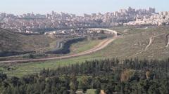 Haifa City landscape in daylight Israel Stock Footage