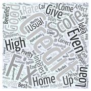 Fix credit score word cloud concept Stock Illustration