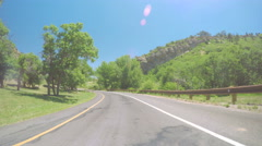 Car driving on South Wadsworth Blvd.-POV point of view. Stock Footage