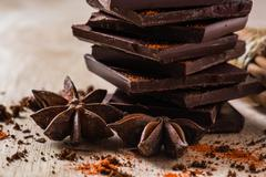 Chocolate with Anise Star Stock Photos