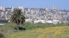 Haifa City view Stock Footage