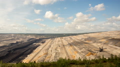 Tagebau Hambach: strip mining lignite time lapse Stock Footage