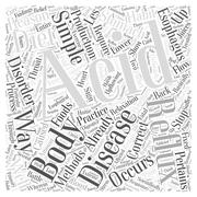 Simple ways to stop acid reflux word cloud concept Stock Illustration
