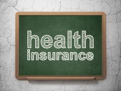 Insurance concept: Health Insurance on chalkboard background Stock Illustration