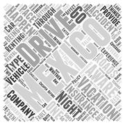 What To Be Aware Of If You Drive While Vacationing In Mexico word cloud conce Stock Illustration