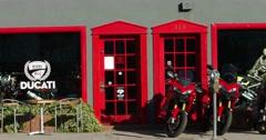Motor Ducati Dealership pavillion of Beverly Hills, Los Angeles, California, 4K Stock Footage
