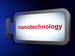Science concept: Nanotechnology on billboard background Stock Illustration