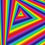 Twisted sequence with spectrum triangle forms Stock Illustration