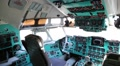 Inside old aircraft cabin HD Footage
