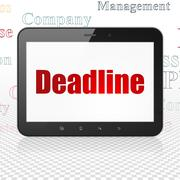 Business concept: Tablet Computer with Deadline on display Stock Illustration