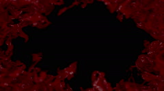 Red abstract background. Frame with blood. Stock Footage