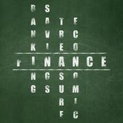 Banking concept: Finance in Crossword Puzzle Stock Illustration