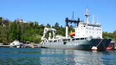 Ships in the port of Sevastopol. Crimea. Stock Footage