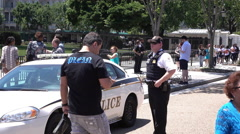 Police posted outside of White House in Washington DC 4k Stock Footage