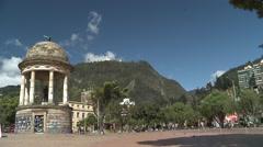 Center of Bogotá, monserrate view Stock Footage