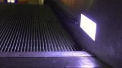 Escalator at night close up on track 4k Stock Footage