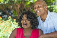 Senior African American Man & Woman Couple Stock Photos