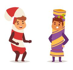 Illustration of carnival costume kid vector Stock Illustration