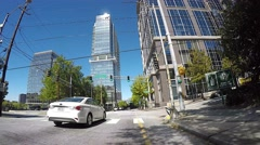 Turner Street to Ralph McGill Blvd NE Time Lapse Vehicle Shot Stock Footage