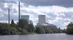 Kraftwerk Staudinger Power Plant in Hanau Germany 4k Stock Footage