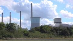 Kraftwerk Staudinger Power Station located in Hanau Germany 4k Stock Footage