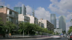 Tel Aviv city Kaplan street time lapse Stock Footage