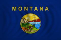 Flag of Montana wavy detailed fabric texture Kuvituskuvat