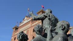 Plaza de Toros in Madrid, Spain Stock Footage
