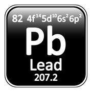Periodic table element lead icon. Stock Illustration