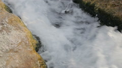 Natural fast mountain stream close up Stock Footage