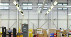 4K Happy & confident workers in modern factory, walking through the building Stock Footage