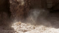 Flash flood in Nahal Zin Cave Negev Israel Stock Footage