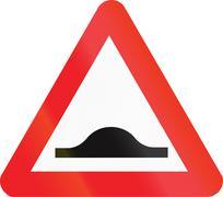 Belgian warning road sign - Speed bump Stock Illustration