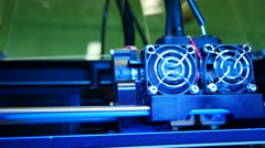 3D printer for printer model. Working in the lab, 3D printing technology,Qual Stock Footage