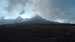 Kamchatka volcanic landscape (time lapse): eruption active Klyuchevskoy Volcano Stock Footage