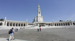 Sanctuary of Fatima, Portugal, SEPTEMBER 03 2016 - Devotees and pilgrims in the Stock Footage