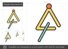 Triangle instrument line icon Piirros