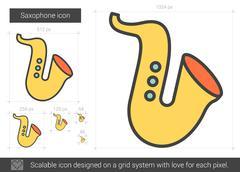 Saxophone line icon Stock Illustration