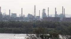 Haifa City Power plant Stock Footage